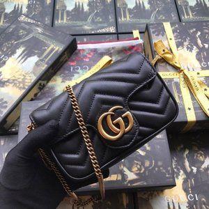 NWT Gucci Marmont Small Matelassé Shoulder Bag